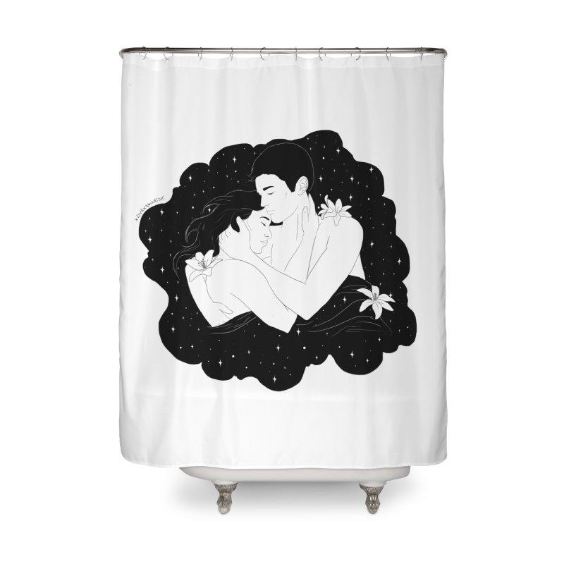 Galaxy Cloud Home Shower Curtain by DVRKSHINES SHIRTS