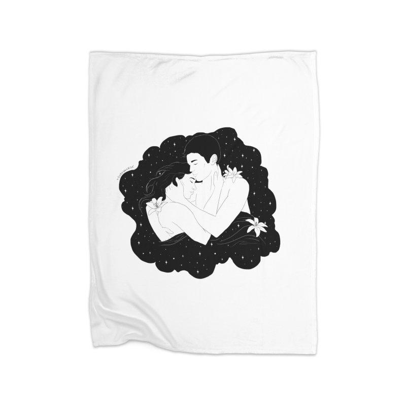 Galaxy Cloud Home Blanket by DVRKSHINES SHIRTS