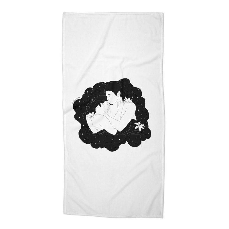 Galaxy Cloud Accessories Beach Towel by DVRKSHINES SHIRTS