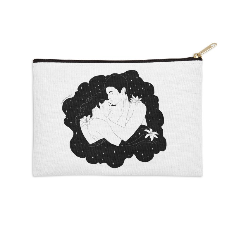 Galaxy Cloud Accessories Zip Pouch by DVRKSHINES SHIRTS