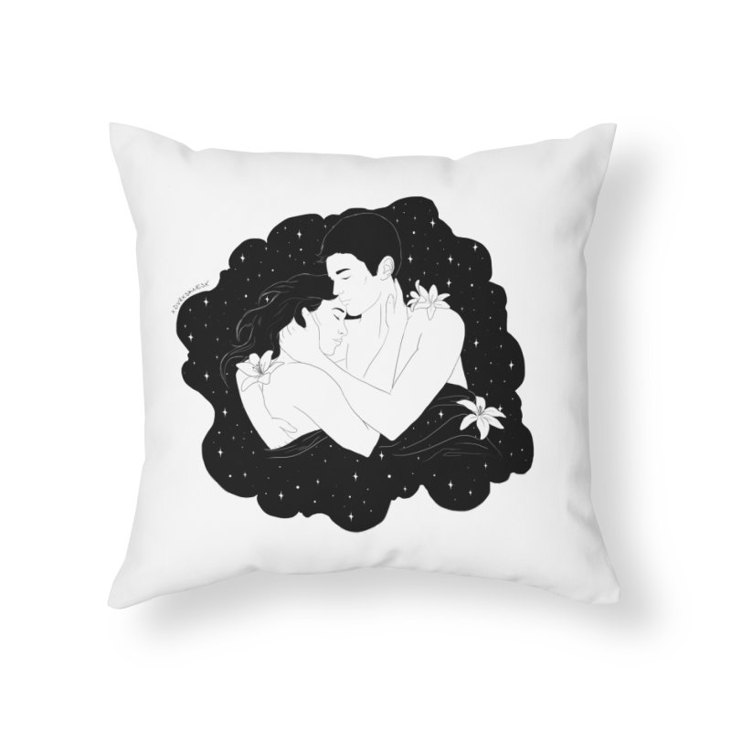 Galaxy Cloud Home Throw Pillow by DVRKSHINES SHIRTS