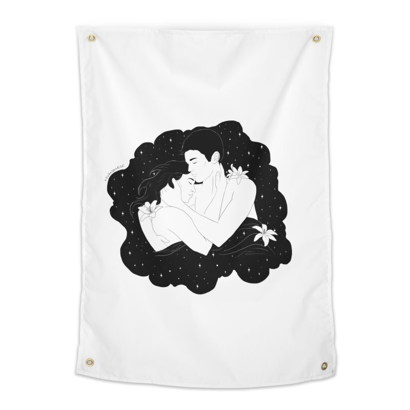 Galaxy Cloud Home Tapestry by DVRKSHINES SHIRTS
