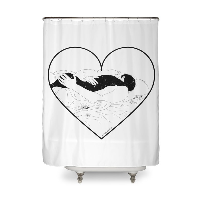 Sundays In Bed Home Shower Curtain by DVRKSHINES SHIRTS