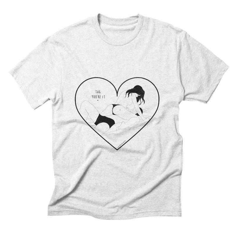 Tag You're It Men's Triblend T-shirt by DVRKSHINES SHIRTS