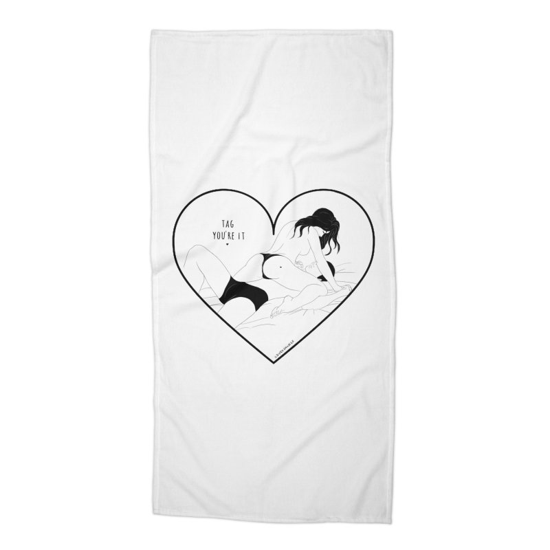 Tag You're It Accessories Beach Towel by DVRKSHINES SHIRTS
