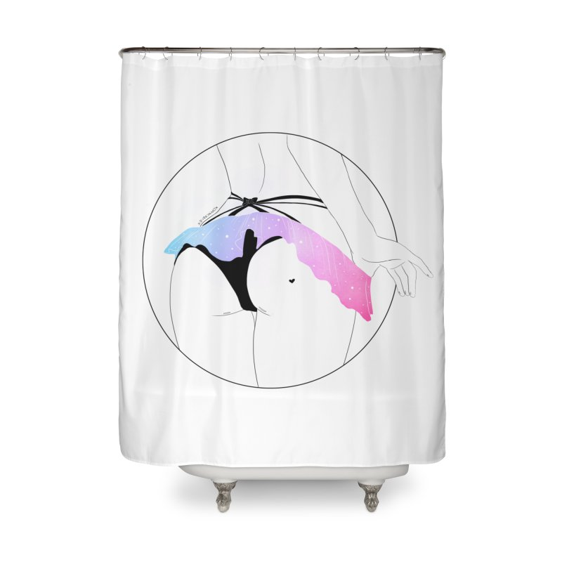 Galaxy Panties Home Shower Curtain by DVRKSHINES SHIRTS