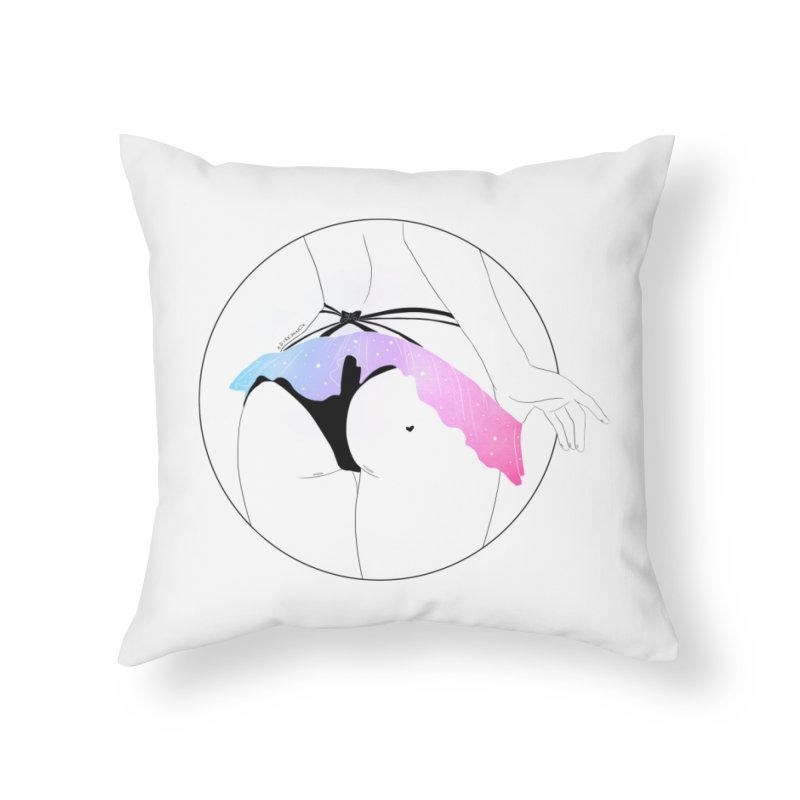 Galaxy Panties Home Throw Pillow by DVRKSHINES SHIRTS