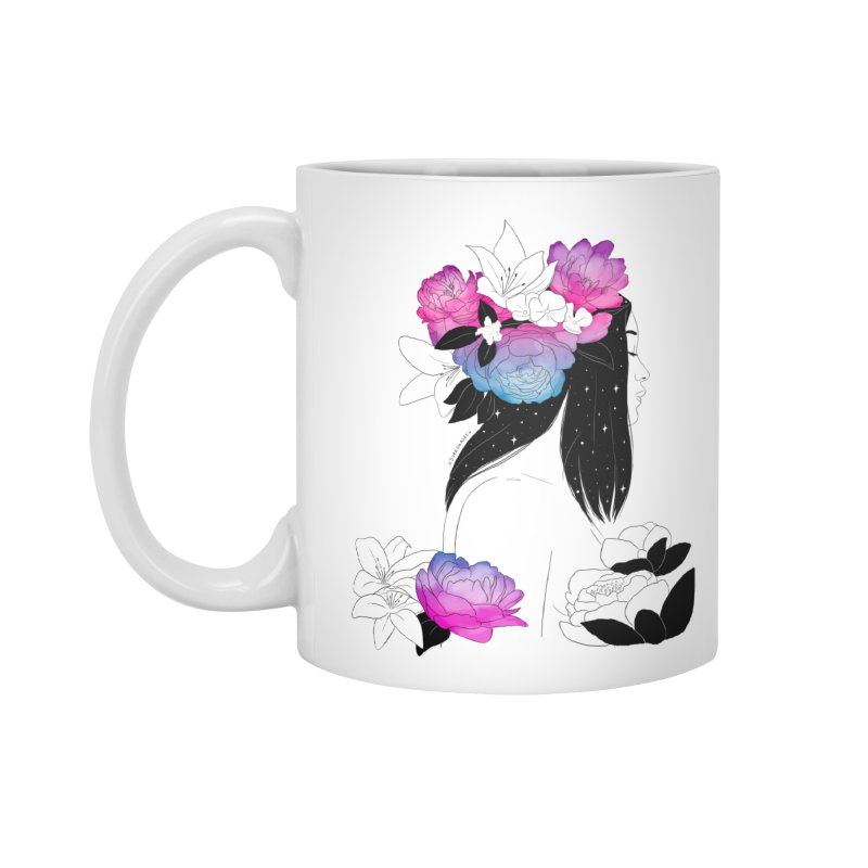 Floral Mind Accessories Mug by DVRKSHINES SHIRTS