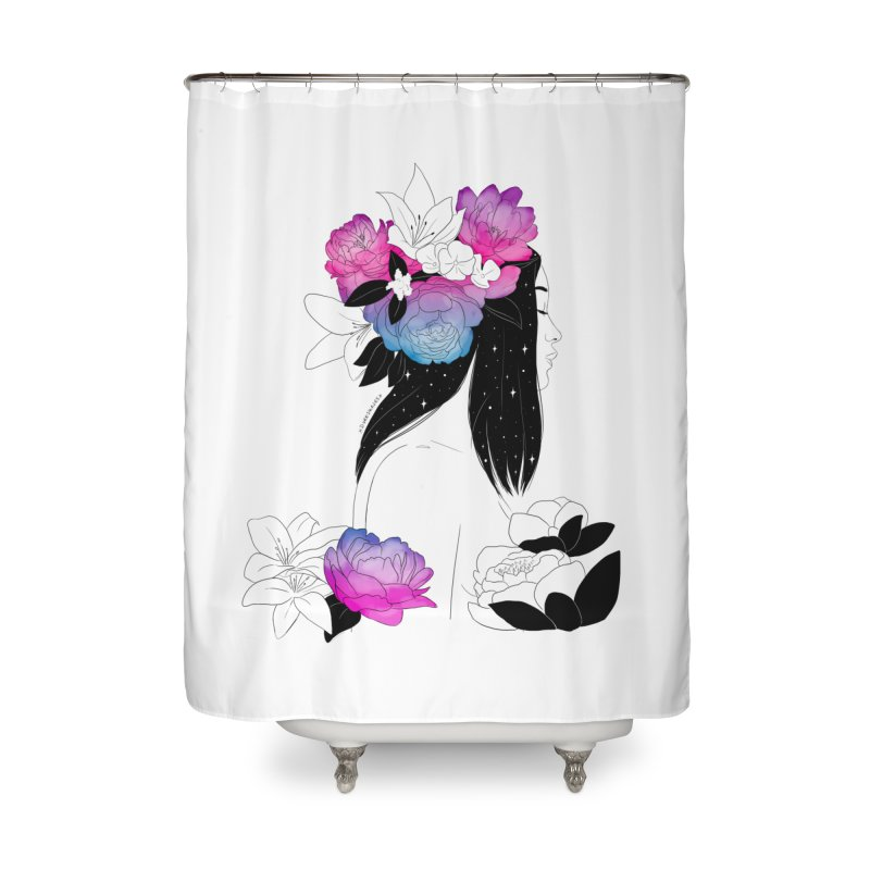 Floral Mind Home Shower Curtain by DVRKSHINES SHIRTS