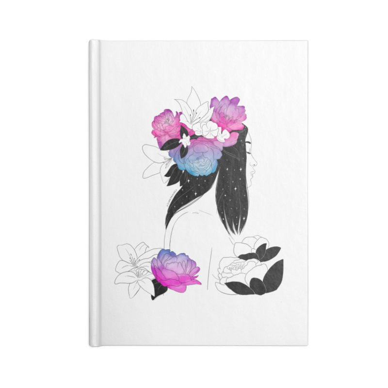 Floral Mind Accessories Notebook by DVRKSHINES SHIRTS