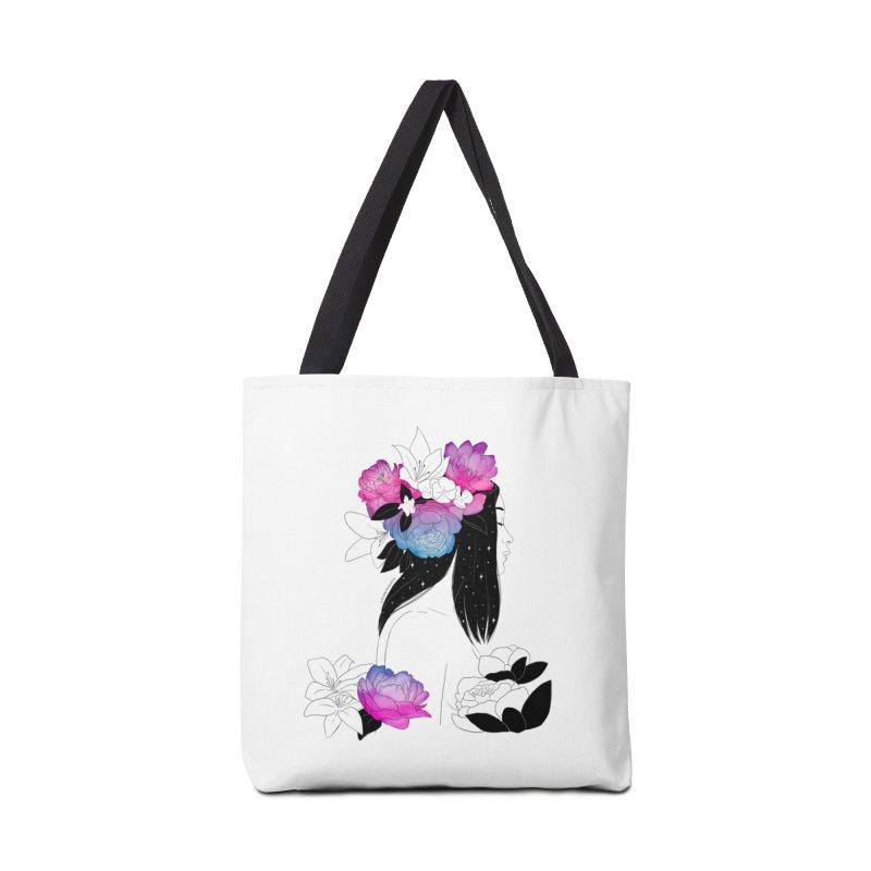Floral Mind Accessories Bag by DVRKSHINES SHIRTS