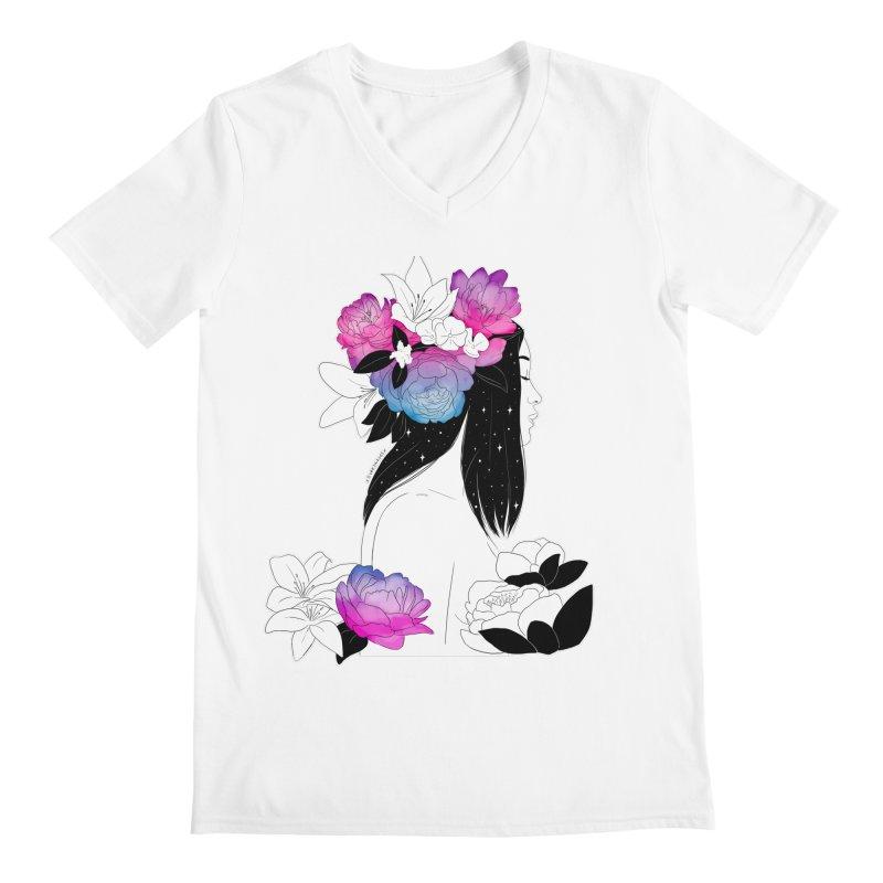 Floral Mind Men's V-Neck by DVRKSHINES SHIRTS