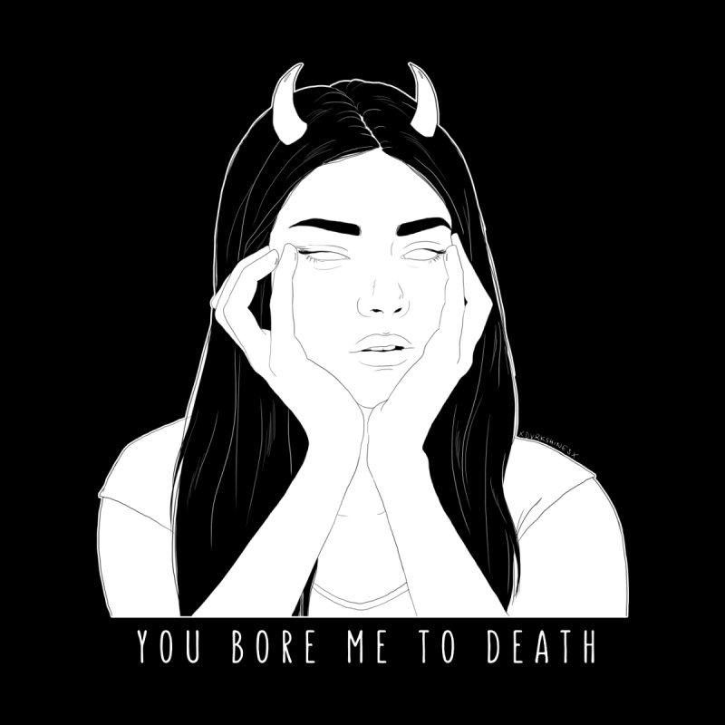 You Bore Me To Death Women's V-Neck by DVRKSHINES SHIRTS