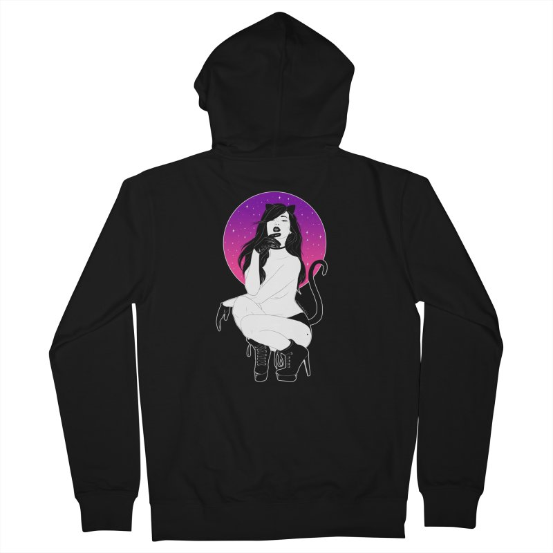 Catwoman Men's Zip-Up Hoody by DVRKSHINES SHIRTS