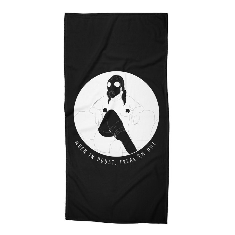 Freak 'Em Out Accessories Beach Towel by DVRKSHINES SHIRTS