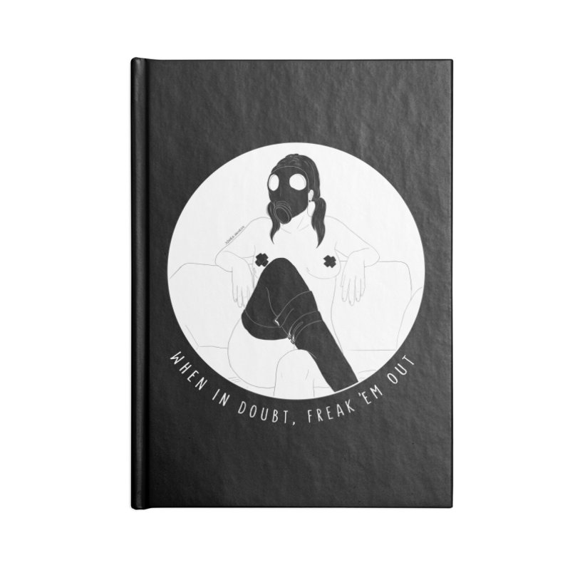 Freak 'Em Out Accessories Notebook by DVRKSHINES SHIRTS