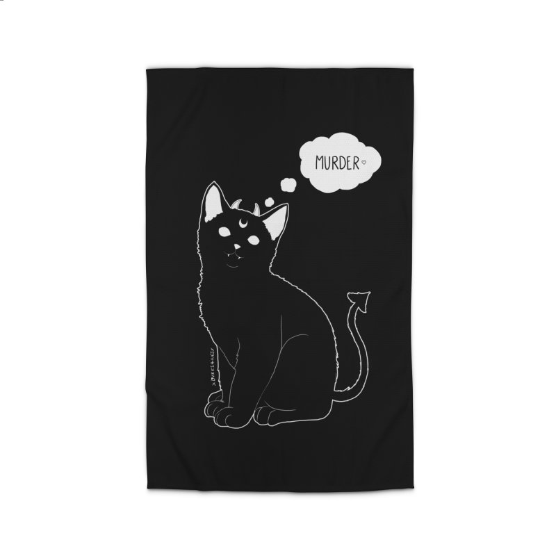 Murderkitty Home Rug by DVRKSHINES SHIRTS