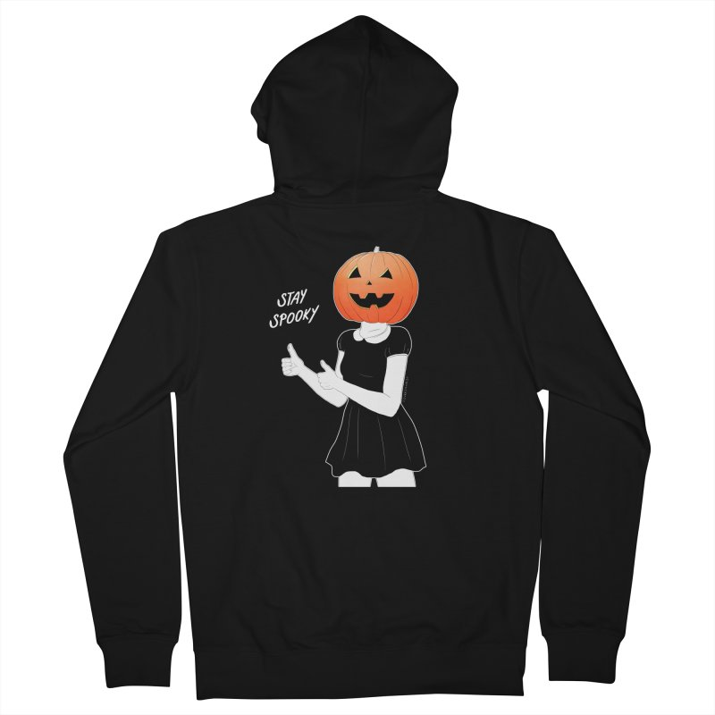 Pumpkin Head Men's Zip-Up Hoody by DVRKSHINES SHIRTS