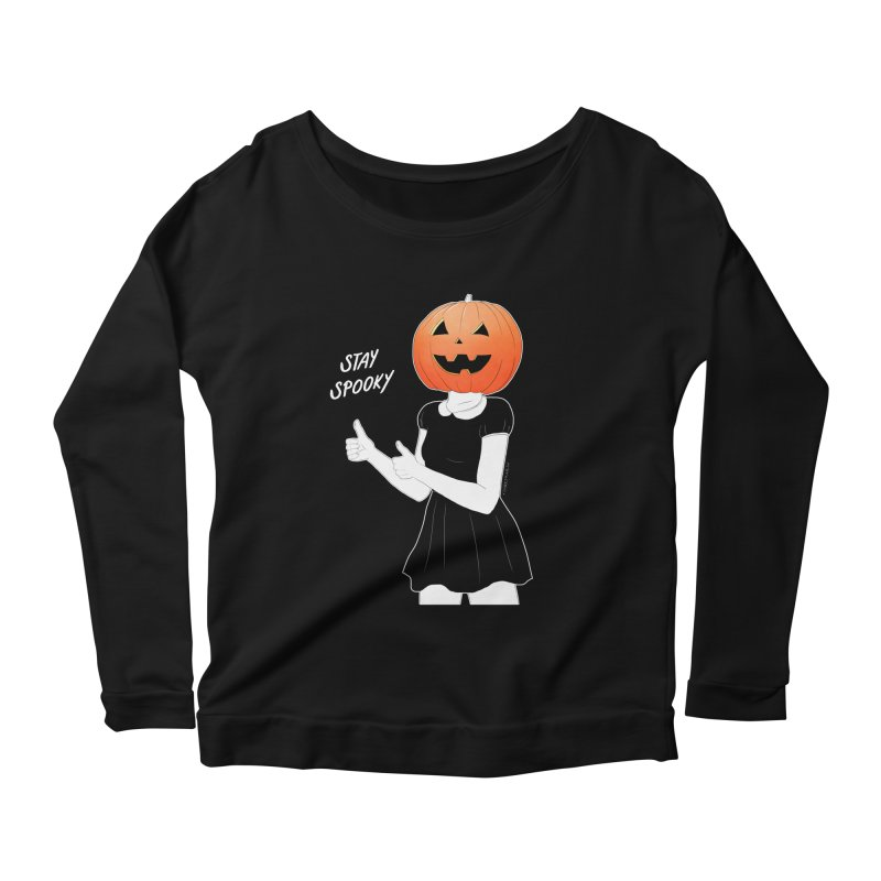 Pumpkin Head Women's Longsleeve Scoopneck  by DVRKSHINES SHIRTS