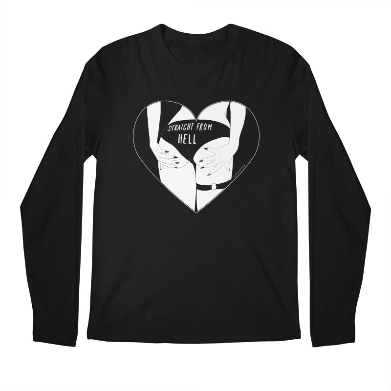 Straight From Hell Men's Longsleeve T-Shirt by DVRKSHINES SHIRTS