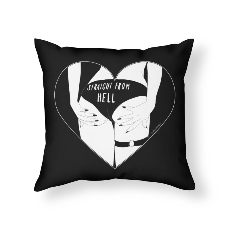 Straight From Hell Home Throw Pillow by DVRKSHINES SHIRTS