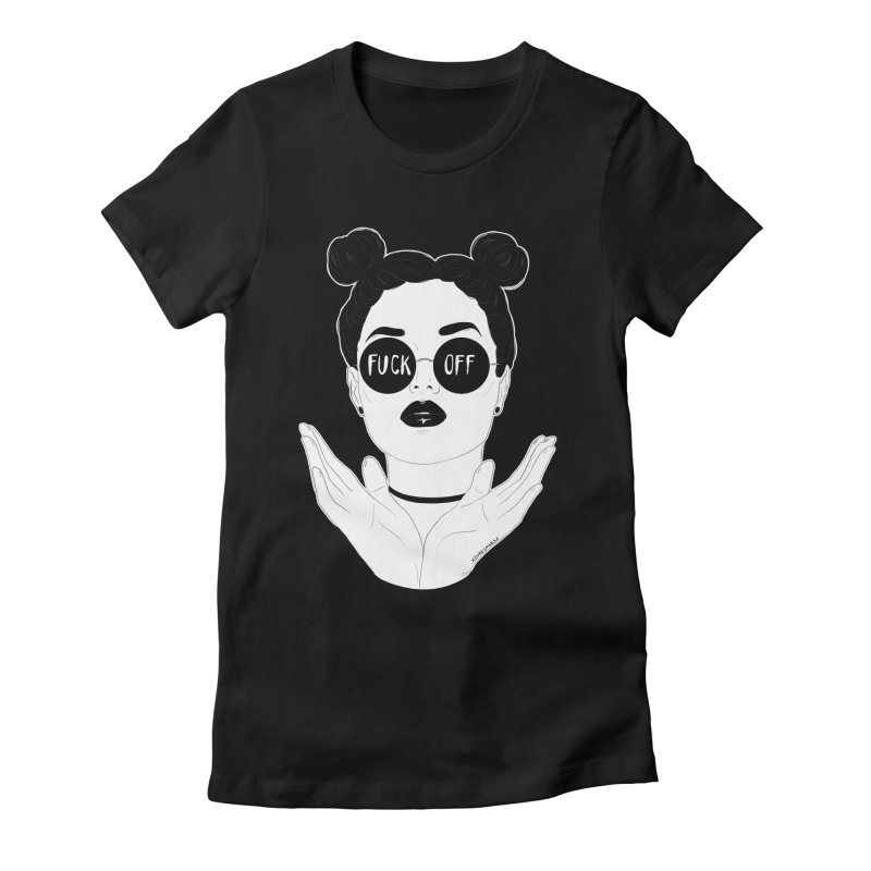 Sunglasses Women's Fitted T-Shirt by DVRKSHINES SHIRTS