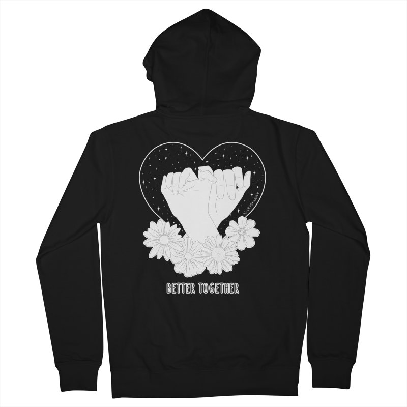 Better Together Women's Zip-Up Hoody by DVRKSHINES SHIRTS