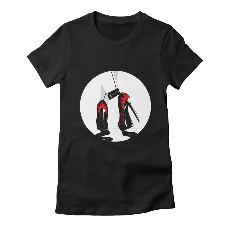 Hellbound Women's Fitted T-Shirt by DVRKSHINES SHIRTS