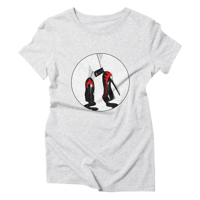 Hellbound Women's Triblend T-Shirt by DVRKSHINES SHIRTS