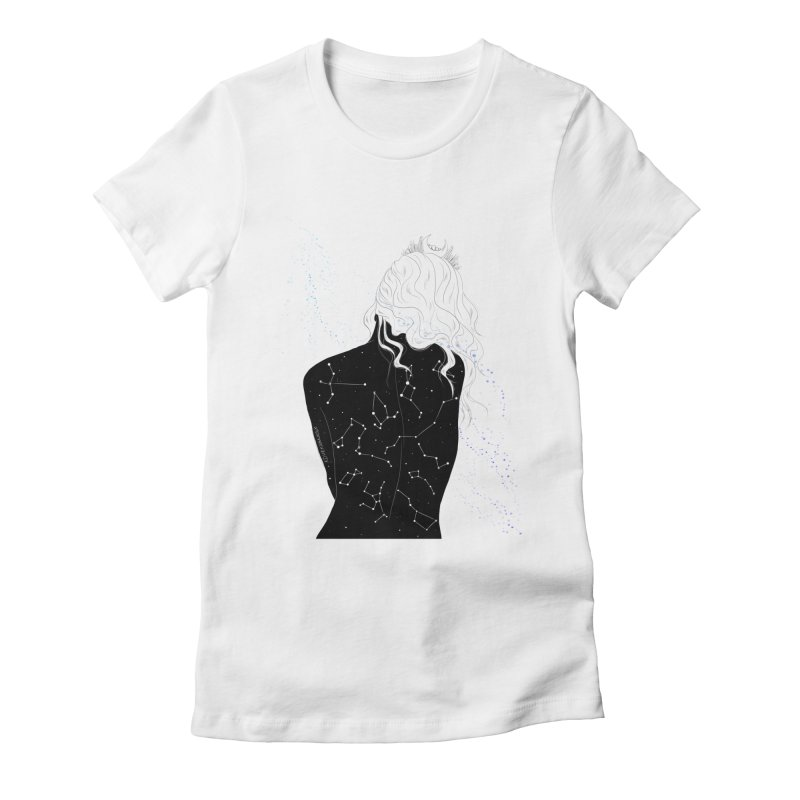 Galaxies In Me Women's Fitted T-Shirt by DVRKSHINES SHIRTS