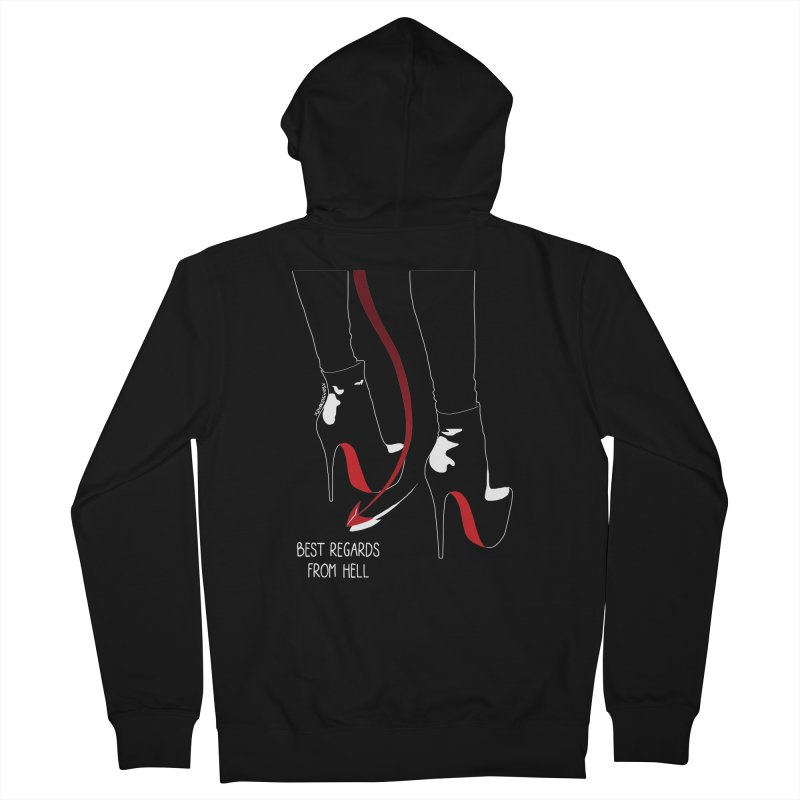 Best Regards Men's French Terry Zip-Up Hoody by DVRKSHINES SHIRTS