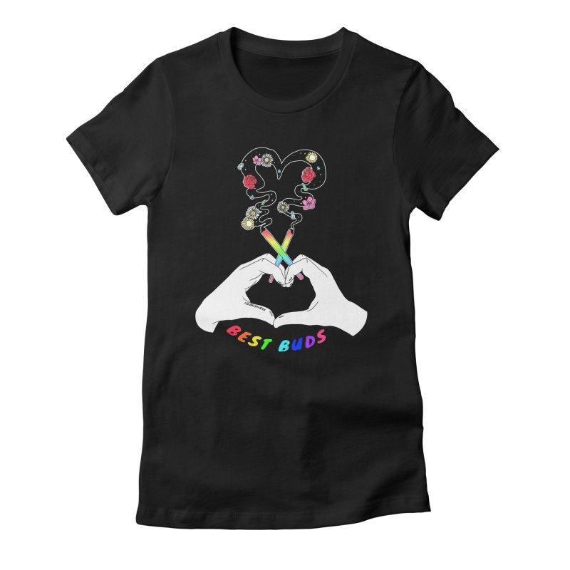 Best Buds Women's Fitted T-Shirt by DVRKSHINES SHIRTS