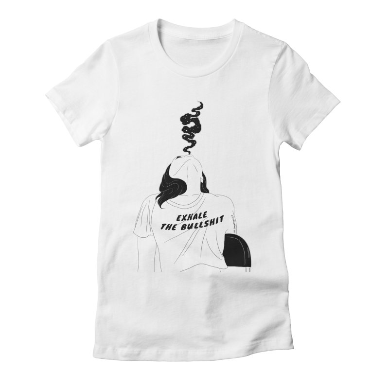 Exhale Women's Fitted T-Shirt by DVRKSHINES SHIRTS