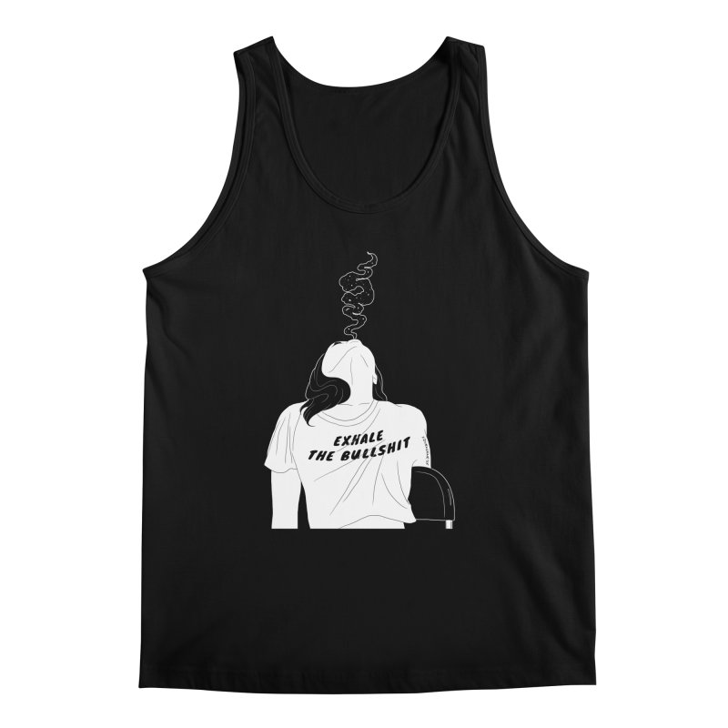 Exhale Men's Tank by DVRKSHINES SHIRTS