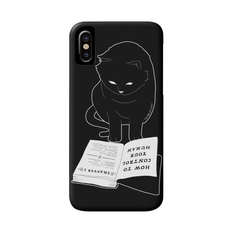How To Control Your Human Accessories Phone Case by DVRKSHINES SHIRTS