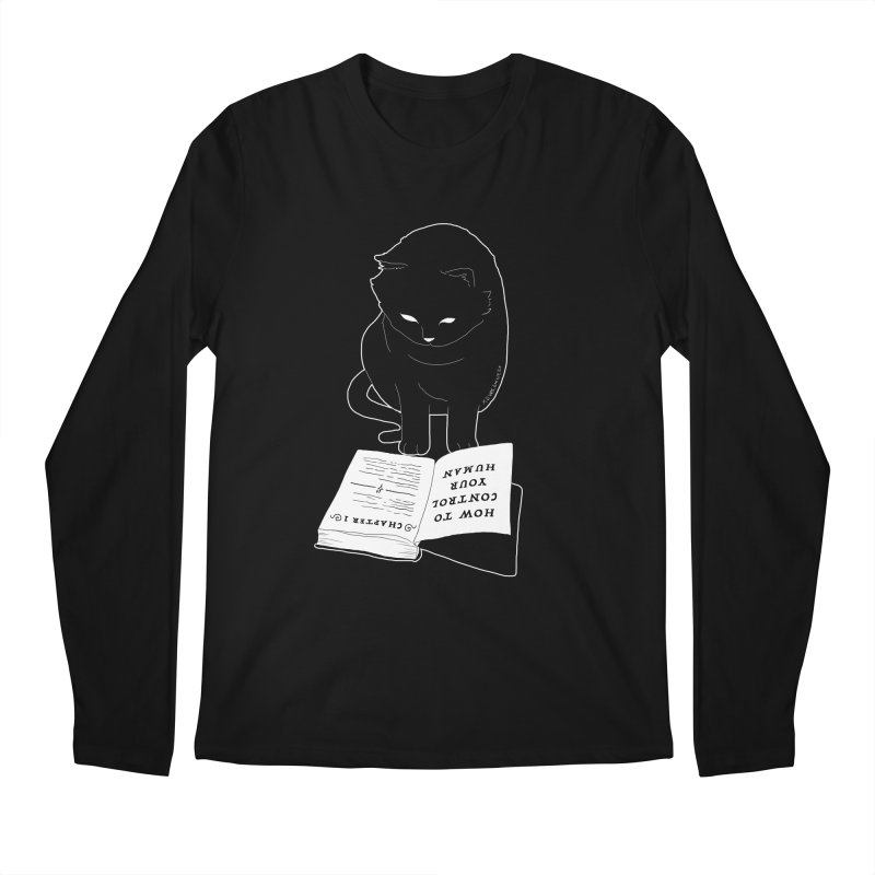 How To Control Your Human Men's Longsleeve T-Shirt by DVRKSHINES SHIRTS