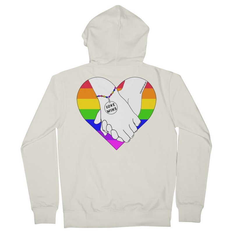 Pride Men's French Terry Zip-Up Hoody by DVRKSHINES SHIRTS
