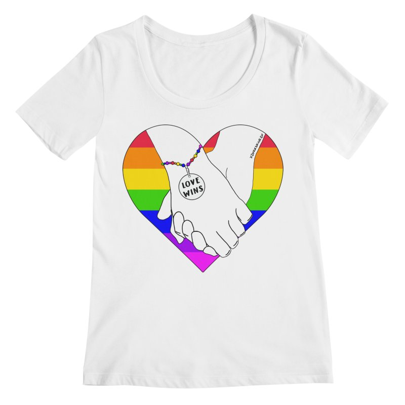 Pride Women's Scoopneck by DVRKSHINES SHIRTS