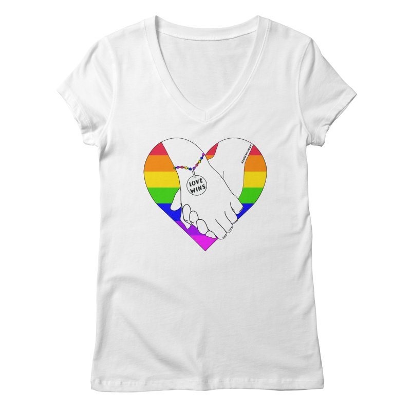 Pride Women's Regular V-Neck by DVRKSHINES SHIRTS
