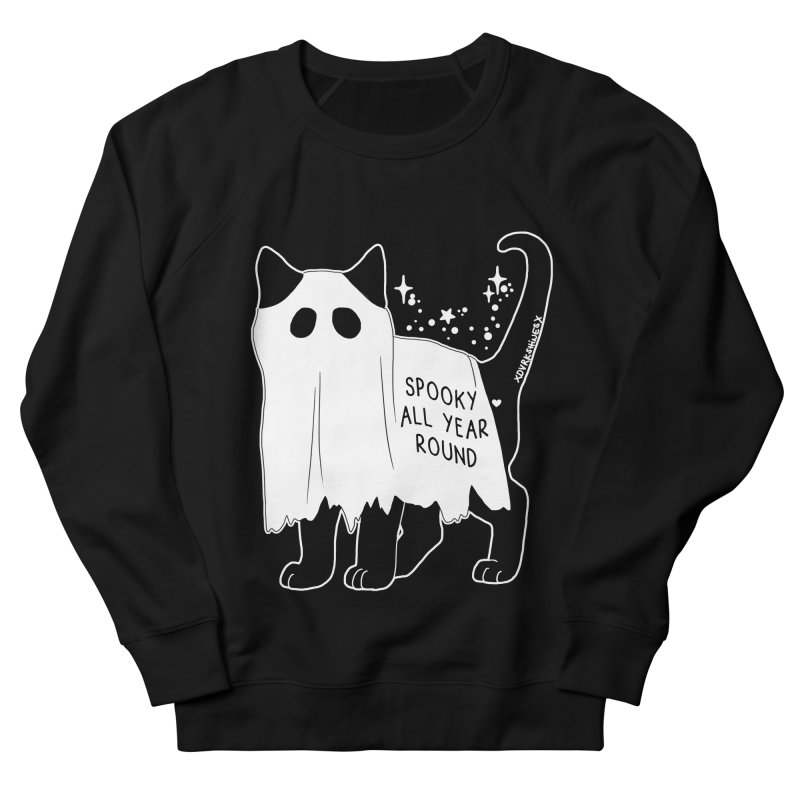Spooky Kitty Women's French Terry Sweatshirt by DVRKSHINES SHIRTS