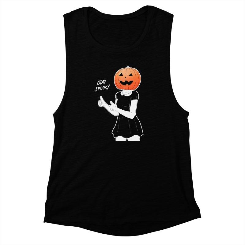 Pumpkin Women's Muscle Tank by DVRKSHINES SHIRTS