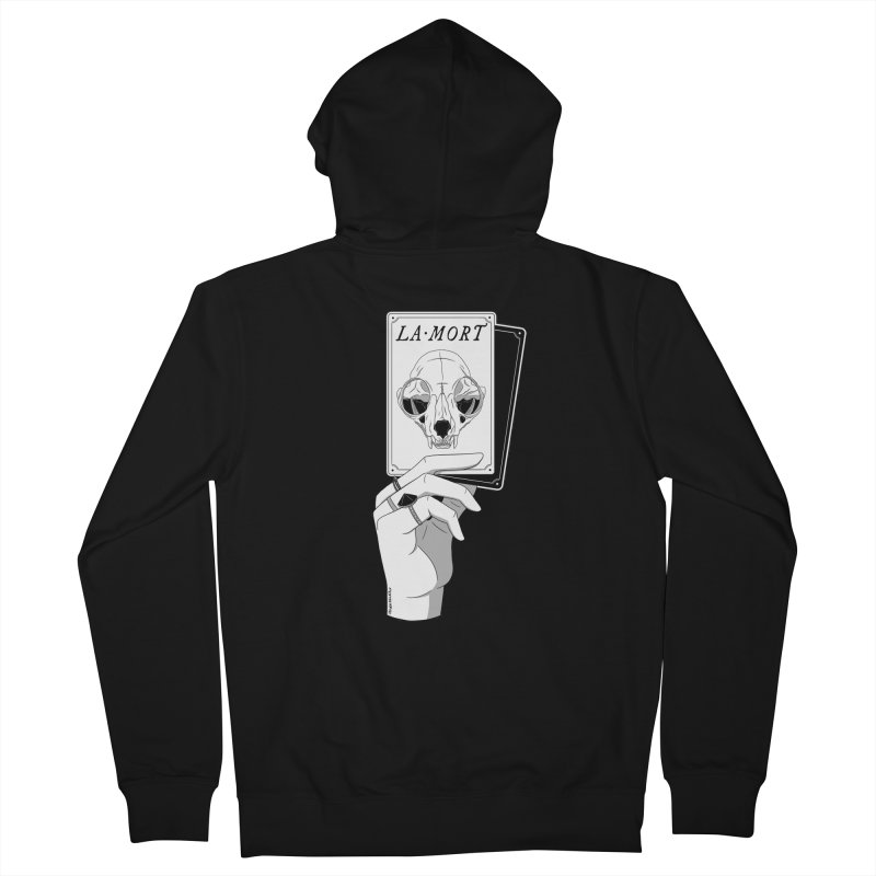 La Mort Men's French Terry Zip-Up Hoody by DVRKSHINES SHIRTS