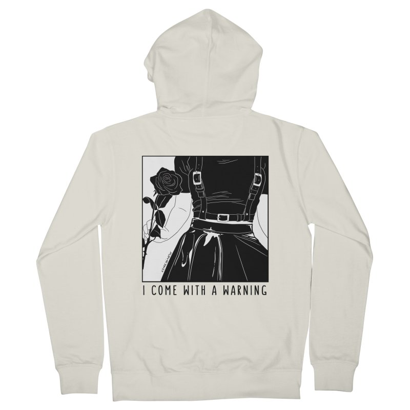 I Come With A Warning Men's French Terry Zip-Up Hoody by DVRKSHINES SHIRTS