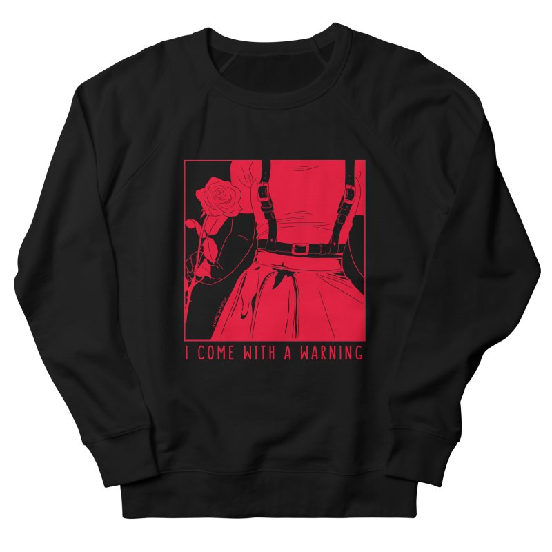 I Come With A Warning RED Women's French Terry Sweatshirt by DVRKSHINES SHIRTS