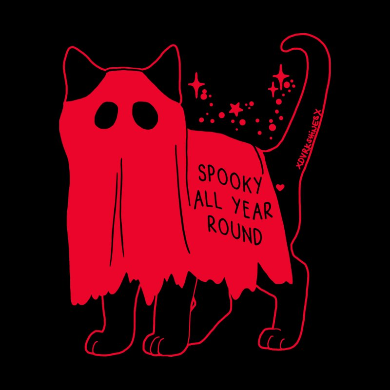 Spooky Kitty RED by DVRKSHINES SHIRTS