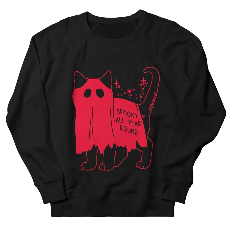 Spooky Kitty RED Women's French Terry Sweatshirt by DVRKSHINES SHIRTS