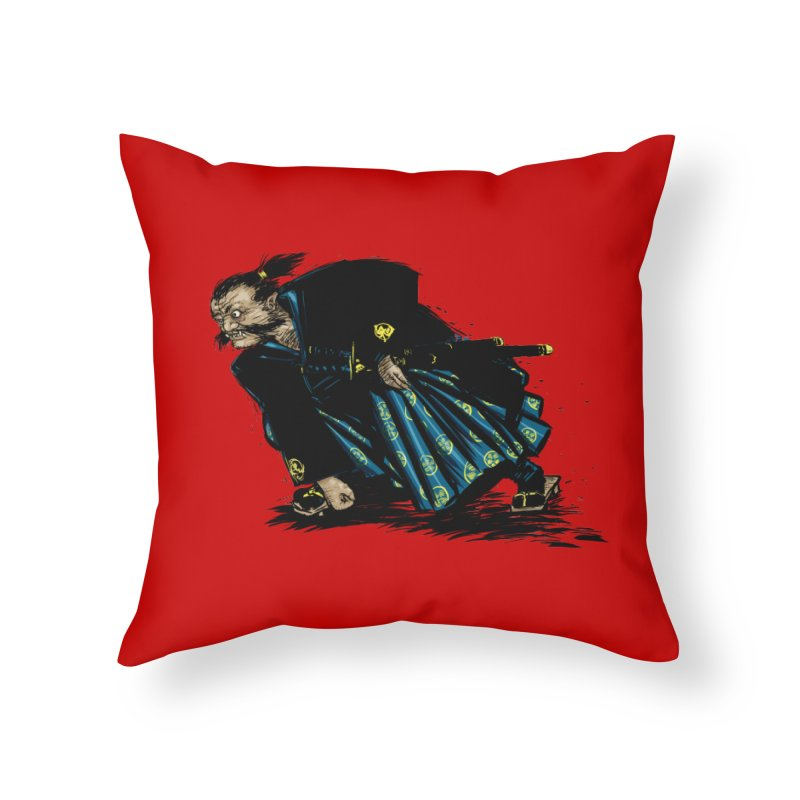 Oni Home Throw Pillow by Dwayne Clare's Artist Shop
