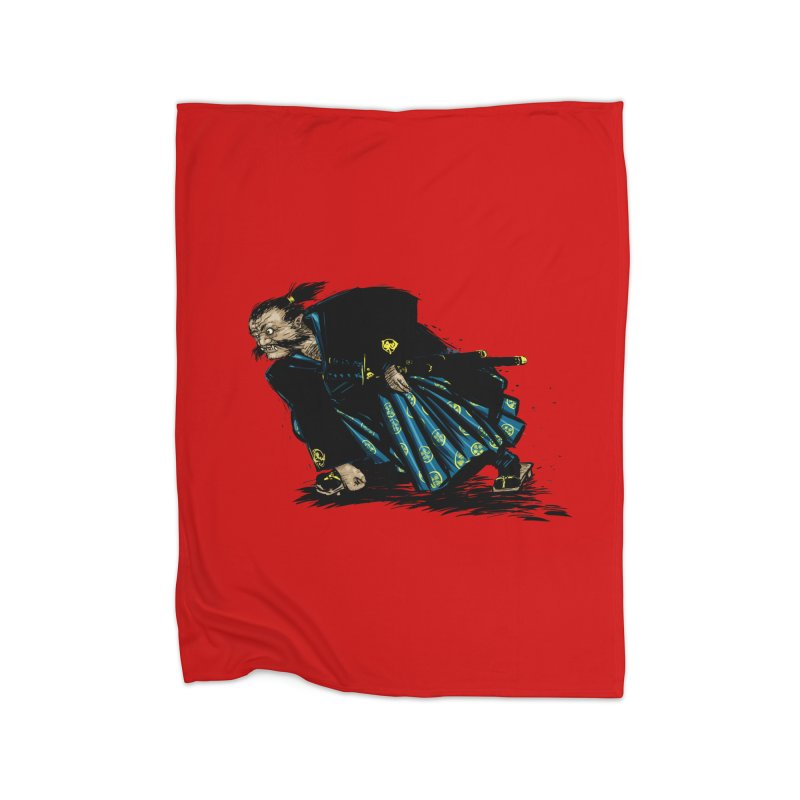 Oni Home Fleece Blanket Blanket by Dwayne Clare's Artist Shop