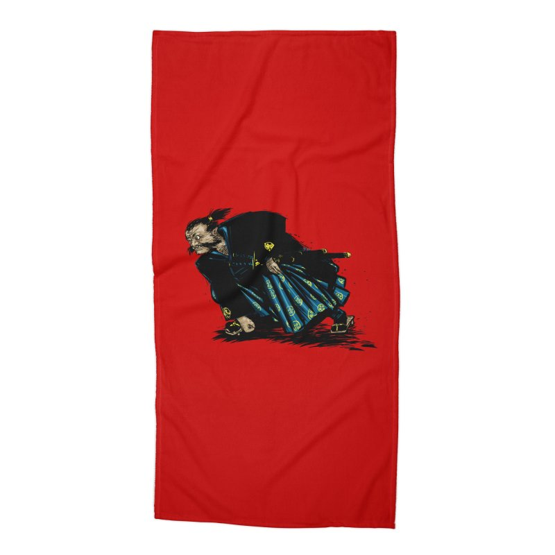 Oni Accessories Beach Towel by Dwayne Clare's Artist Shop