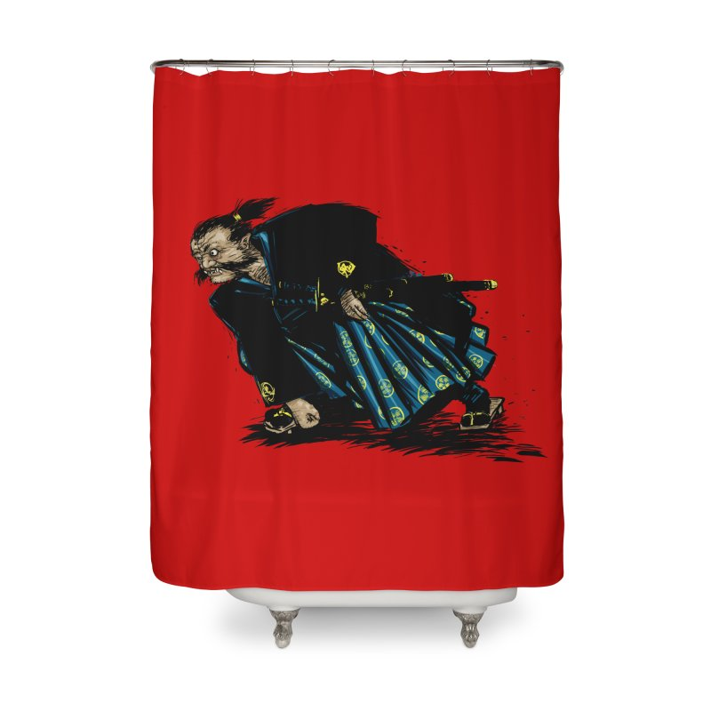 Oni Home Shower Curtain by Dwayne Clare's Artist Shop